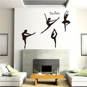 Ballet Set of Four Dancing Dancer Wall Art Vinyl Decal Stickers Mural Home Decor