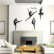 Ballet Set of Four Dancing Dancer Wall Art Vinyl Decal Stickers Mural Home Decor