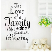 The Love Family Home Removable Quote Wall Sticker Mural Decor Art Vinyl Decal