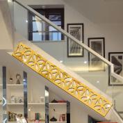 10PCS Mirror Wall Stickers Home Ceiling Waist Line Decal Wall Decor Art Mural-Gold