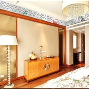 10PCS Ceiling Line Mirror Effect Removable Wall Stickers Art Decal Room Home Decor-Silver