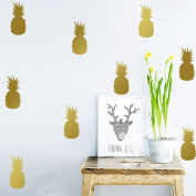 3.230cm Mini Pineapple Set - 20pcs Wall Decal Vinyl Stickers for Kids Room-Gold