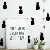 3.230cm Mini Pineapple Set - 20pcs Wall Decal Vinyl Stickers for Kids Room-Black