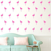 30 Pcs Flamingo Wall Art Stickers Removable Kids Nursery Vinyl Decal Decor Mural-Pink