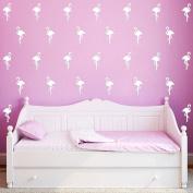 30 Pcs Flamingo Wall Art Stickers Removable Kids Nursery Vinyl Decal Decor Mural-White