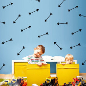 48Pcs Arrow Pattern Removable Wall Sticker Vinyl Decal Kids Nursery Decor Art-Black