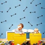 48Pcs Arrow Pattern Removable Wall Sticker Vinyl Decal Kids Nursery Decor Art-Black