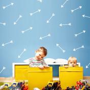 48Pcs Arrow Pattern Removable Wall Sticker Vinyl Decal Kids Nursery Decor Art-White
