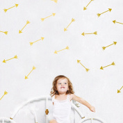 48Pcs Arrow Pattern Removable Wall Sticker Vinyl Decal Kids Nursery Decor Art-Gold
