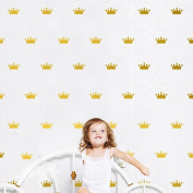 36Pcs Mini Princess Queen Royal Crown Pattern Removable Stickers Vinyl Decal Decor