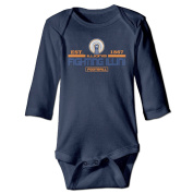 ElishaJ University Of Illinois Babys Unisex Long Sleeve Bodysuit Outfits Navy