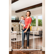 Easy Open 130cm Wide Baby Gate, Pressure Mount with 2 Included Extension Kits