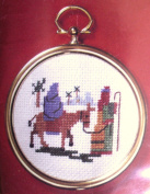 Mary and Joseph - Ornament Cross Stitch Kit 6.4cm Diameter # 2404