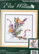 "Elsa Williams Counted Cross Stitch Kit ""Tulips and Ribbon"" #02047"