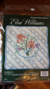 "Elsa Williams Counted Cross Stitch Kit ""Blue Aspen Pillow"" # 02046"