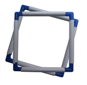 BaouRouge' Universal Clip Frame for Embroidery, Quilting, Cross-stitch, Needlepoint, Silk-painting, etc - 20cm x 20cm