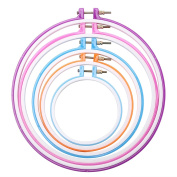 Caydo 5 Pieces Embroidery Hoops Cross Stitch Hoop Embroidery Circle Set, 13cm to 28cm