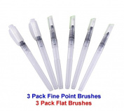 LMS Assorted Brush Tips Set Water Brush Pen for watercolouring Oil Acrylic Painting