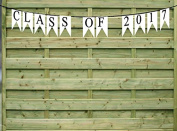 Class of 2017 White Paper Graduation Garland Bunting Party Decoration Banner