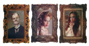 3 Pc. Changing Picture Skull Vampire Zombie 3d Changing Pictures Halloween Party Wall Hanging / Placemats