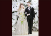 6 Poly Resin Wedding Cake Topper Couple