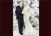 20cm Bouquet Poly Resin Wedding Cake Topper Couple