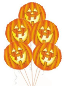 Halloween Laughing Pumpkin Mylar/Foil Balloon 46cm Pkg/5