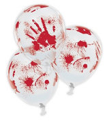 Halloween Bloody Hands 28cm Latex Balloons x 5