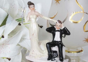 13cm Poly Resin Wedding Cake Topper Funny Couple