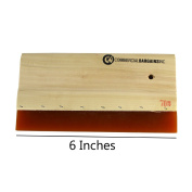 15cm Silk Screen Printing Squeegee Single Durometer Ink Scraper With Drill Hole