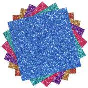 Outus Glitter Heat Transfer Vinyl, Assorted Colours, 6 Sheet
