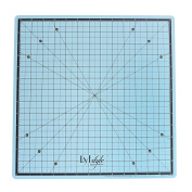 Lyfstyle Rotating Self Healing Cutting Mat / 36cm x 36cm / Icy Blue
