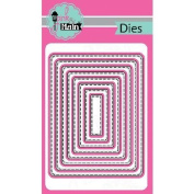 Pink And Main Dies-Stitched Rounded Rectangles, 8/Pkg