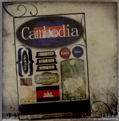 Cambodia Travel World Sticker Kit