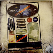 Democratic Republic of Congo Travel World Stickers and Paper