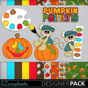 Pumpkin Painting - Digital Scrapbook Kit on CD