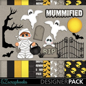 Mummified - Digital Scrapbook Kit on CD
