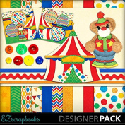 Circus Bear - Digital Scrapbook Kit on CD