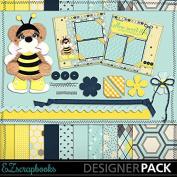 Honey Bee Bear - Digital Scrapbook Kit on CD