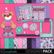 Happy Birthday Bear - Digital Scrapbook Kit on CD