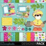 Garden Party Bear - Digital Scrapbook Kit on CD