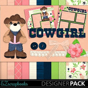 Cowgirl Bear - Digital Scrapbook Kit on CD