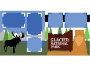 """""""Glacier National Park"""" Scrapbook Kit"""