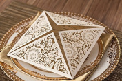 12 Pcs Square luxury cards Wedding Marriage Birthday Shower Party Decoration