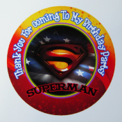 12 Superman Birthday Party Favour Stickers (Bags Not Included) #1