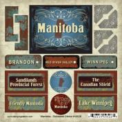 Manitoba-Distressed Sticker Brandon, Red River Valley, Winnipeg, Canada