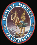 Royal Hotel Bangkok Reproduction Luggage Decal 7.6cm x 13cm