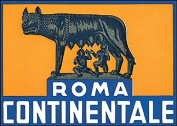 Roma Continentale Reproduction Luggage Decal 7.6cm x 13cm
