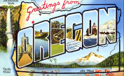 Oregon Greetings Reproduction Luggage Decal 7.6cm x 13cm