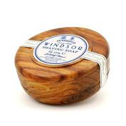 D.R. Harris Windsor Shaving Soap in Mahogany Colour Wood Bowl